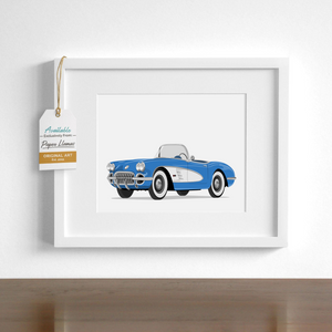 Corvette Printable  - baby nursery art from Paper Llamas