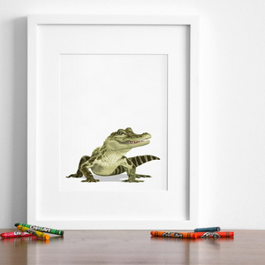 Baby Crocodile Printable  - baby nursery art from Paper Llamas