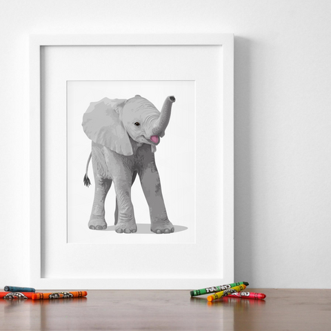 Baby Elephant Printable  - baby nursery art from Paper Llamas