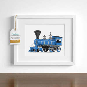 Steam Engine Printable  - baby nursery art from Paper Llamas