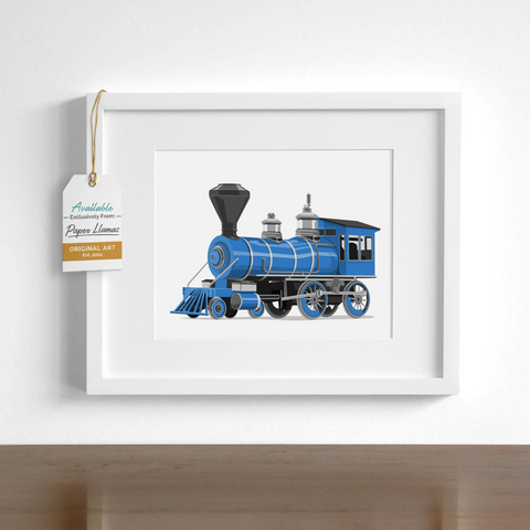 Steam Engine  - baby nursery art from Paper Llamas