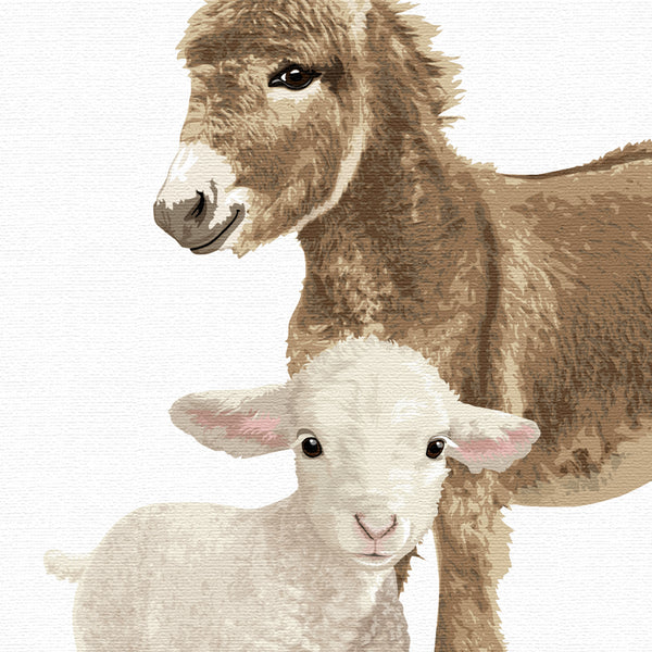 Farm Animal Parade Printable  - baby nursery art from Paper Llamas