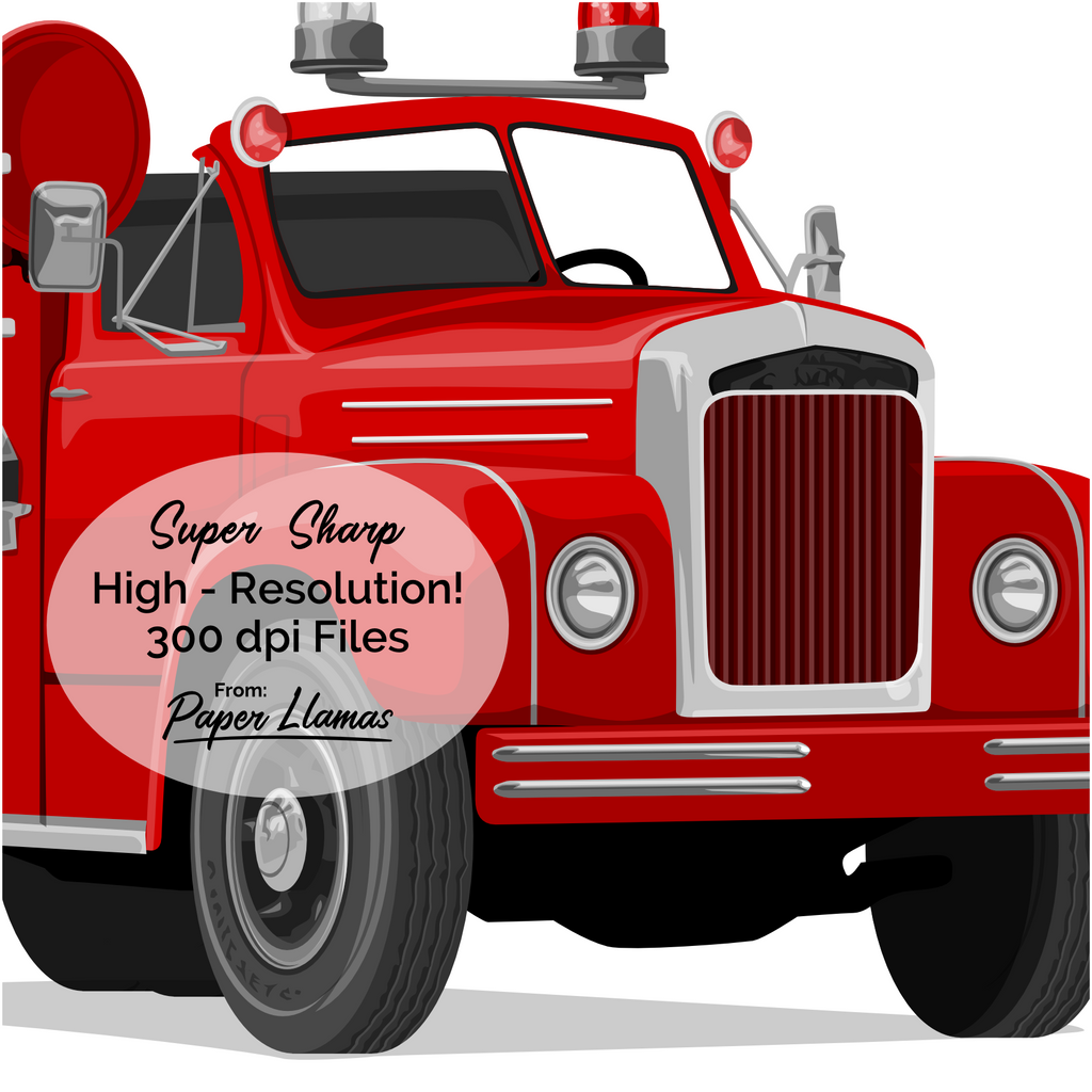 photograph about Fire Truck Printable known as Hearth Truck Printable Paper Llamas