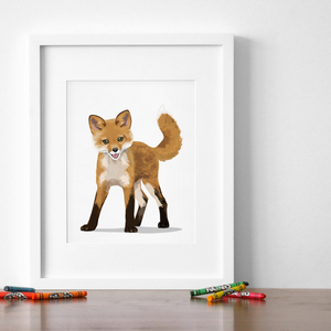 Baby Fox Printable  - baby nursery art from Paper Llamas