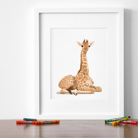 Baby Giraffe Printable  - baby nursery art from Paper Llamas