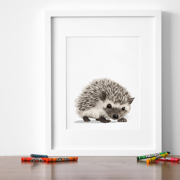 Baby Hedgehog Printable  - baby nursery art from Paper Llamas