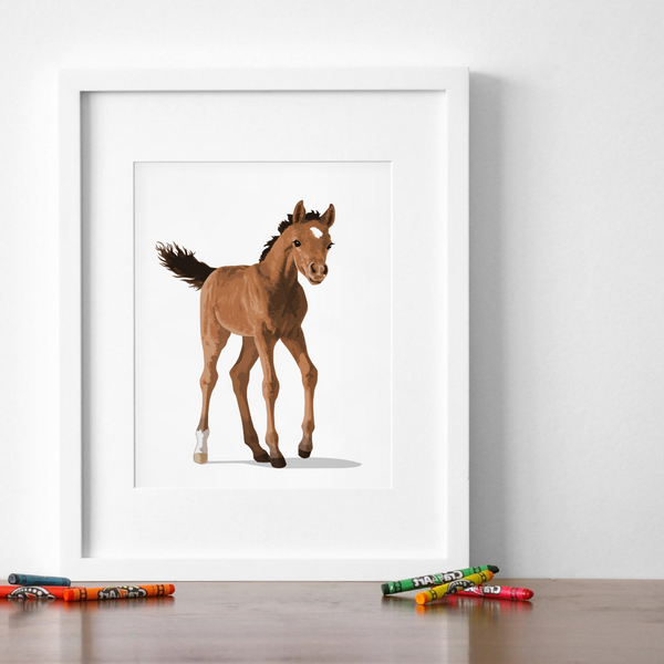 Baby Horse Printable  - baby nursery art from Paper Llamas
