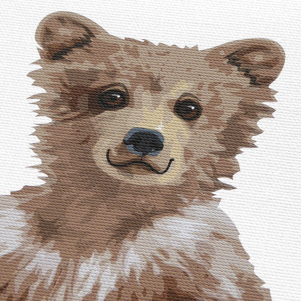 Forest Baby Bear  - baby nursery art from Paper Llamas