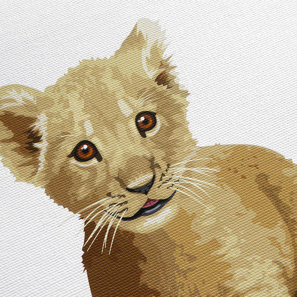 Baby Lion  - baby nursery art from Paper Llamas