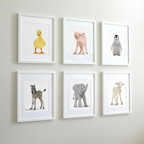 Baby Pig  - baby nursery art from Paper Llamas