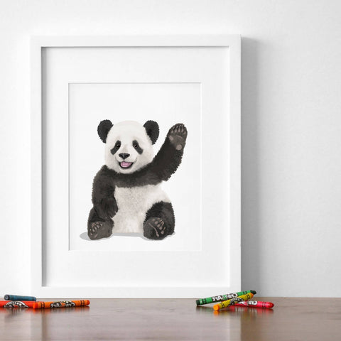 Baby Panda  - baby nursery art from Paper Llamas