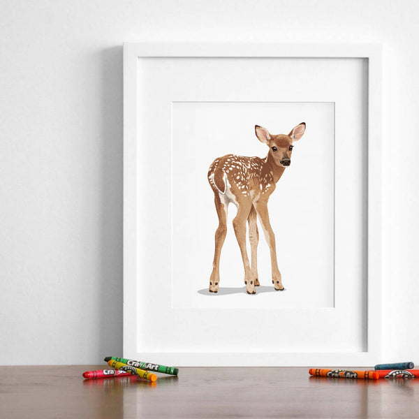 Baby Deer  - baby nursery art from Paper Llamas