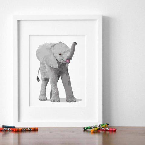 Baby Elephant  - baby nursery art from Paper Llamas