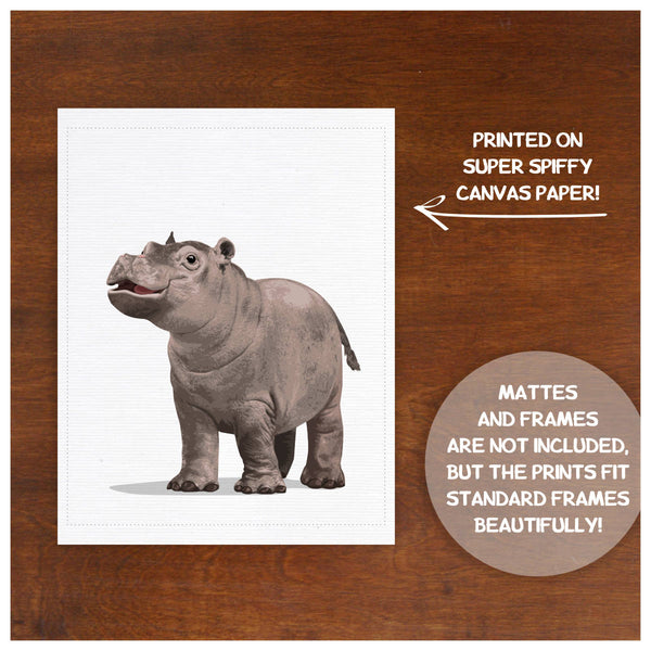 Baby Hippo  - baby nursery art from Paper Llamas