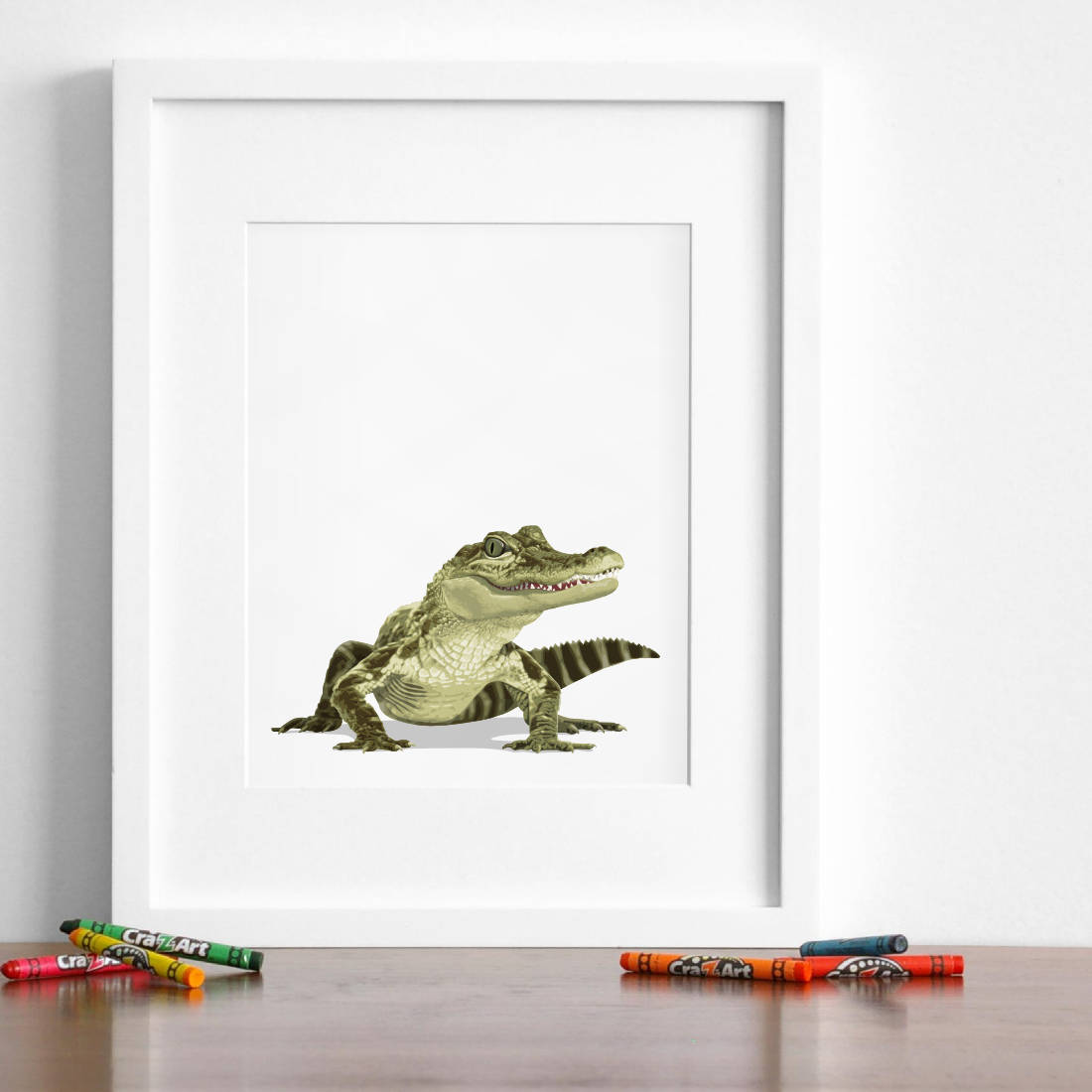 Baby Crocodile  - baby nursery art from Paper Llamas