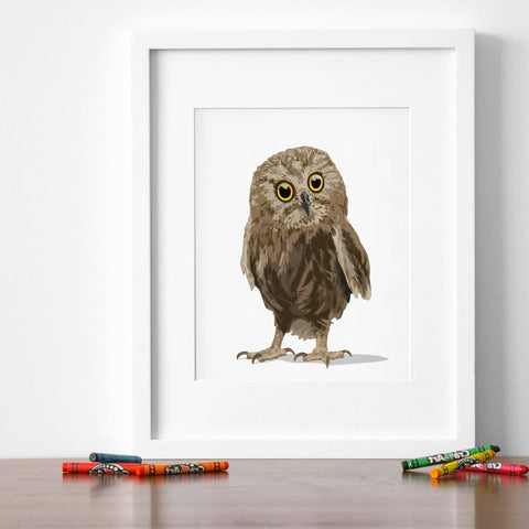 Baby Owl  - baby nursery art from Paper Llamas