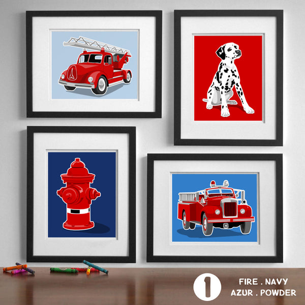 Fire Truck  - baby nursery art from Paper Llamas