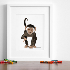 Baby Monkey Printable  - baby nursery art from Paper Llamas