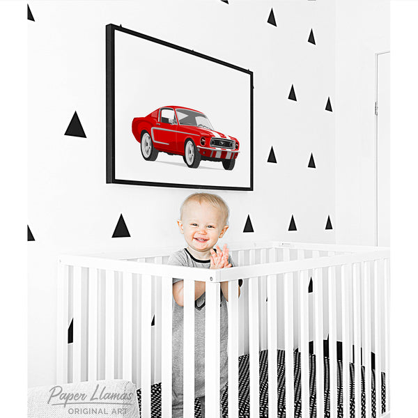 Mustang  - baby nursery art from Paper Llamas