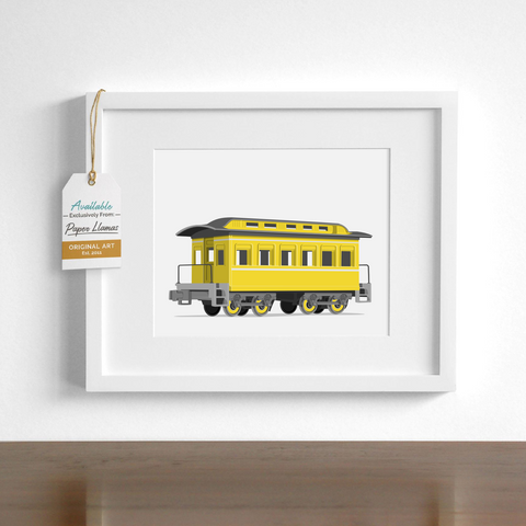 Passenger Car Printable  - baby nursery art from Paper Llamas