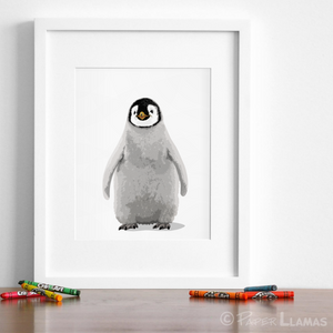 photograph relating to Penguin Printable titled Child Penguin Printable Paper Llamas