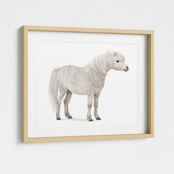 Pony  - baby nursery art from Paper Llamas