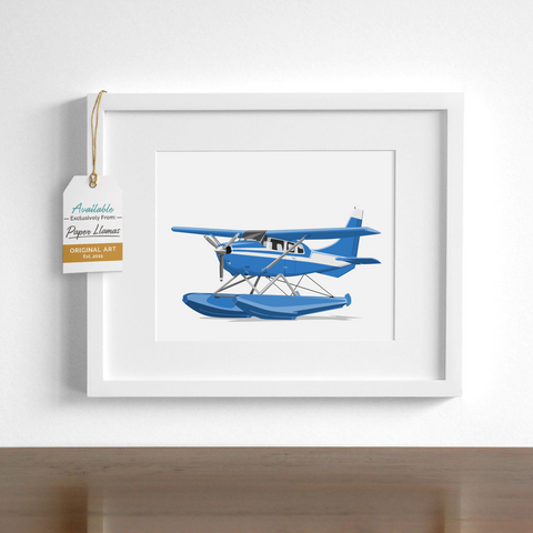 Sea plane  - baby nursery art from Paper Llamas