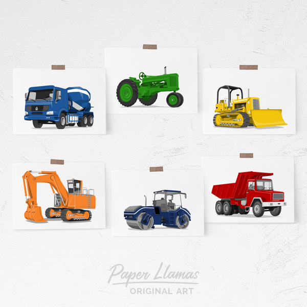 Tractor Printable  - baby nursery art from Paper Llamas