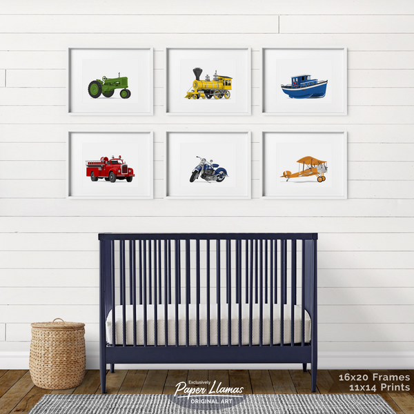 Boat  - baby nursery art from Paper Llamas
