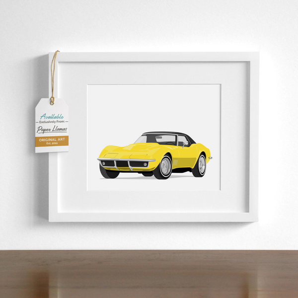 Stingray Corvette Printable  - baby nursery art from Paper Llamas