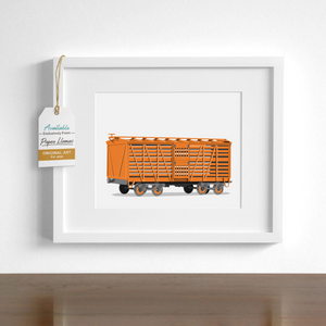 Stock Car  - baby nursery art from Paper Llamas