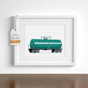 Tanker Car Printable  - baby nursery art from Paper Llamas