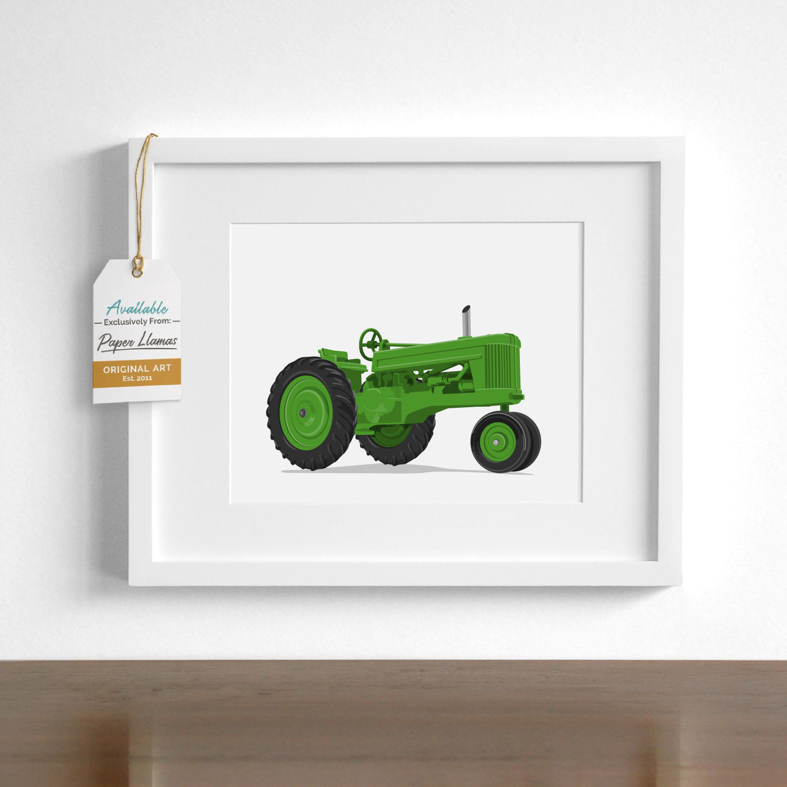 Tractor  - baby nursery art from Paper Llamas