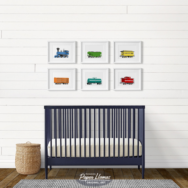 Passenger Car  - baby nursery art from Paper Llamas