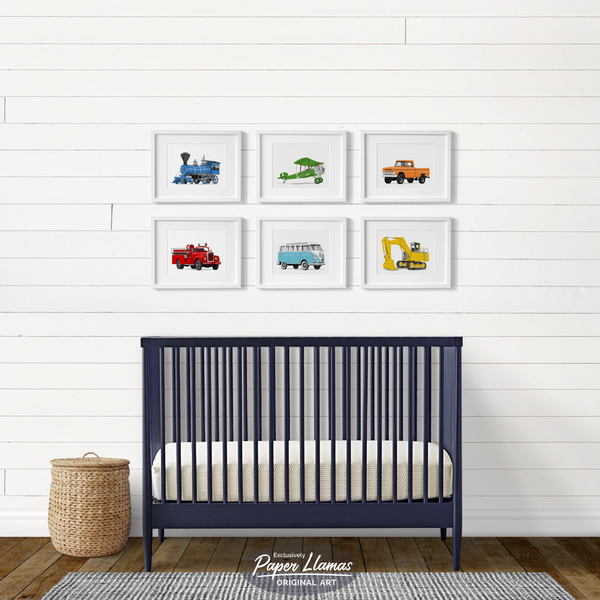 GMC Pickup  - baby nursery art from Paper Llamas