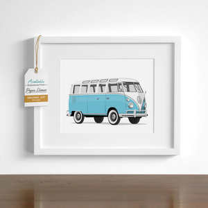 VW Bus Printable  - baby nursery art from Paper Llamas