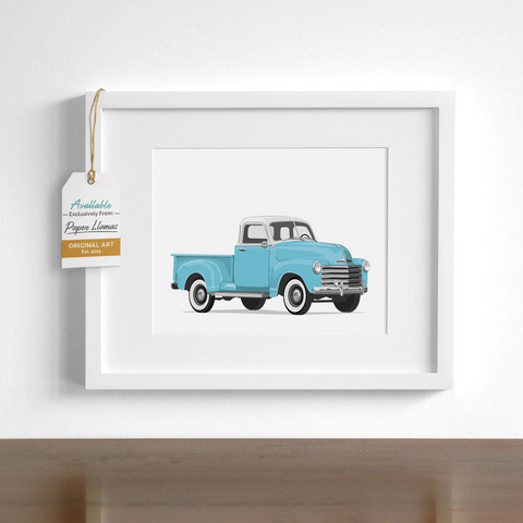 White Top Truck Printable  - baby nursery art from Paper Llamas