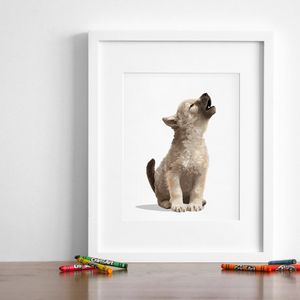 Baby Wolf Printable  - baby nursery art from Paper Llamas