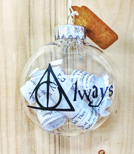 Always harry potter ornament