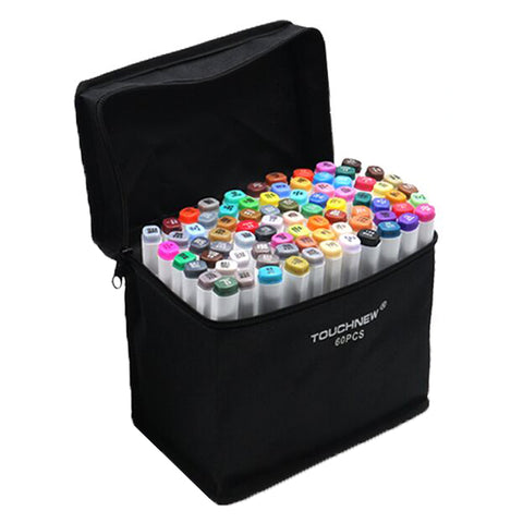 60 Colors Artist Dual Head Sketch Markers Set For Manga Marke