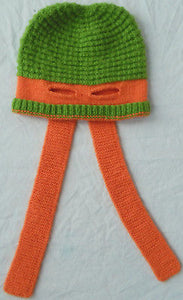 5fc6bf5d5e0 Alpaca Knit Teenage Mutant Ninja Turtles Winter Hat - Michelangelo Party  Dude