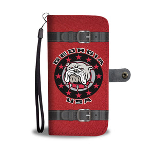 Georgia USA Bulldog (Red Limited Edition) Wallet Phone Case