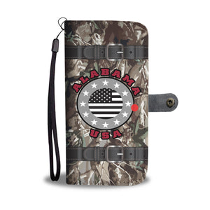 Alabama USA Stars Realtree Camo - Wallet Phone Case