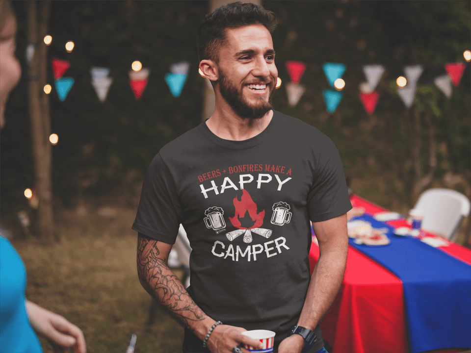 Beers And Bonfires Make a Happy Camper Tee
