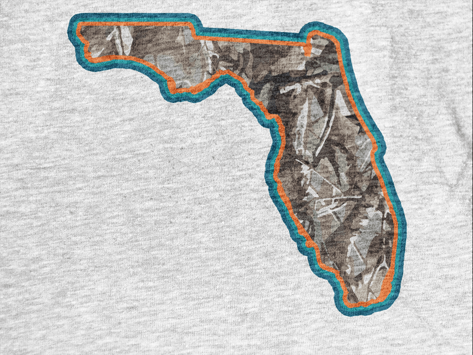 Florida Realtree Tri-Color Raglan - T-Shirt