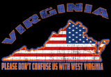 "Virginia USA ""Please Don't Confuse Us With West Virginia"" - Tee"