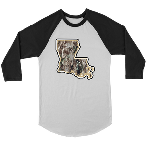 Louisiana Realtree Tri-Color Raglan - T-Shirt