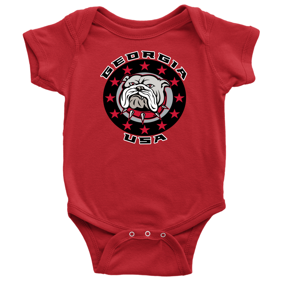 Georgia Stars Bulldog Red Edition - Baby One Piece