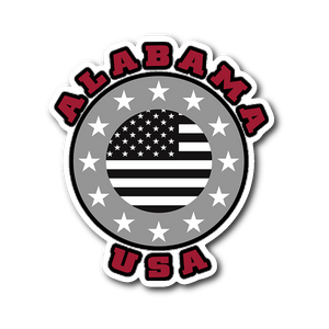 Alabama USA Stars - Vinyl Car Sticker