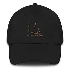 Louisiana USA Outline - Cotton Cap